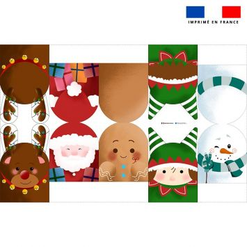 Kit mini-gants nettoyants motif Noël