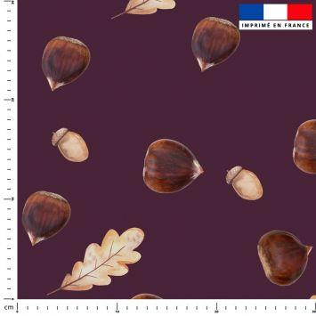 Chataigne - Fond aubergine