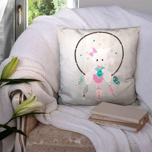 Coupon 45x45 cm motif attrape-rêve love - Création Créasan'