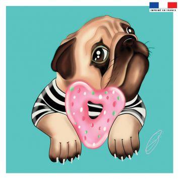 Coupon 45x45 cm motif chien - Création Créasan'