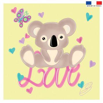 Coupon 45x45 cm motif Love - Création Créasan'