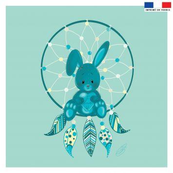 Coupon 45x45 cm motif attrape-rêve lapinou - Création Créasan'