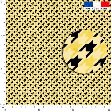 Pied de poule jaune - Fond noir