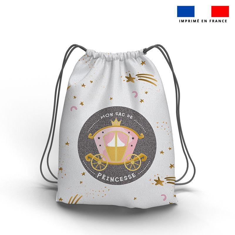 Kit sac à dos coulissant motif princesse