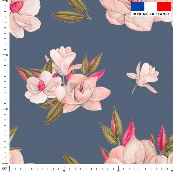 Fleur japonaise - Fond gris
