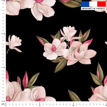 Fleur japonaise - Fond noir