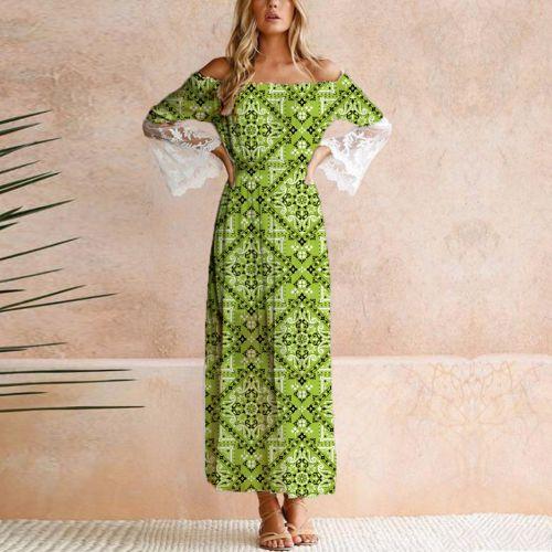 Bandana - Fond vert clair