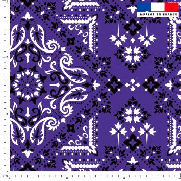 Bandana - Fond violet