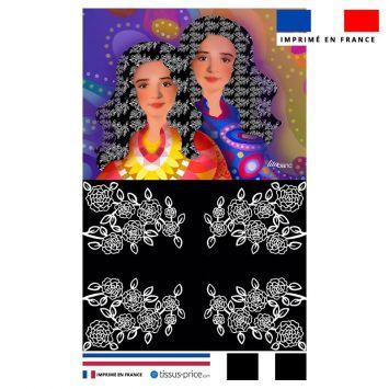 Kit pochette motif diva duo lina - Création Lita Blanc