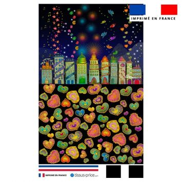 Kit pochette motif ville - Création Lita Blanc
