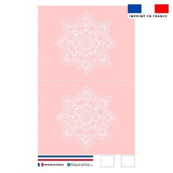 Kit pochette rose clair motif mandala - Création Créasan'