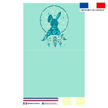 Kit pochette bleu motif lapinou et attrape-rêve - Création Créasan'