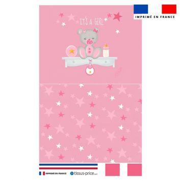 Kit pochette rose motif baby girl - Création Créasan'