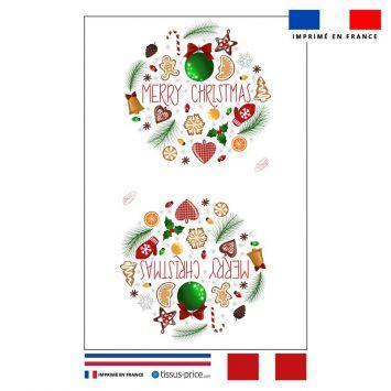 Kit pochette blanc motif merry christmas - Création Créasan'