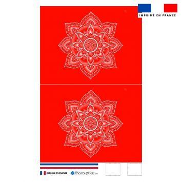 Kit pochette rouge motif mandala - Création Créasan'