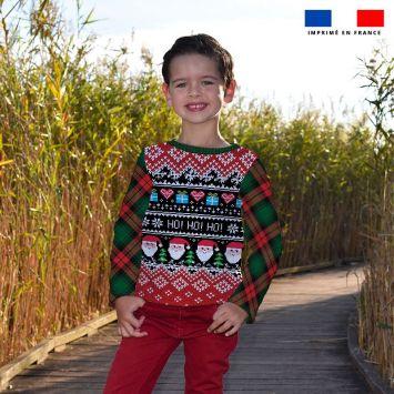 Kit pull Noel en polaire motif ho ho ho