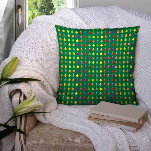 Boules de noel - Fond vert - Création Lita Blanc