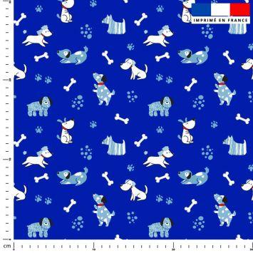 Chien bleu - Fond bleu foncé