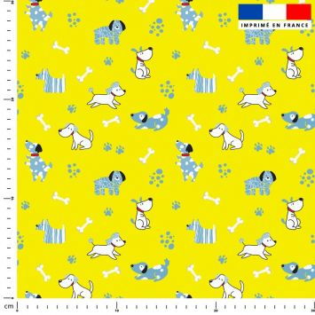 Chien bleu - Fond jaune