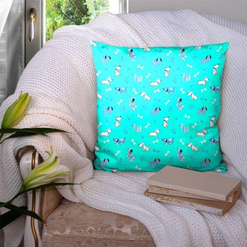 Chien bleu - Fond turquoise