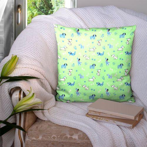 Chien bleu - Fond vert