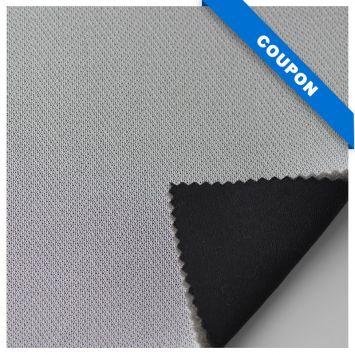 Coupon 50x74 cm - Mousse résille doublé maille noire