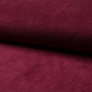 Tissu velours milleraies bordeaux