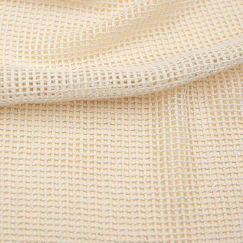 Filet coton naturel grande maille Oeko-tex