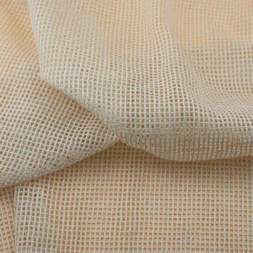 Filet coton naturel petite maille Oeko-tex