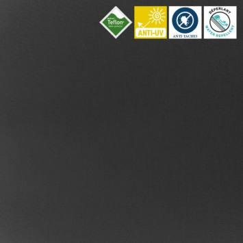 coupon - Coupon 50cm - Toile extérieure Téflon grande largeur gris foncé
