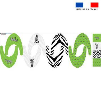Coupon éponge bavoirs bandana motif zèbre noir - Création Anne Clmt