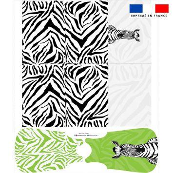 Coupon motif zèbre vert - Gigoteuse et Tour de Lit - Création Anne Clmt