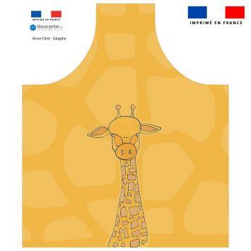 Patron imprimé pour tablier enfant motif girafe - Création Anne Clmt