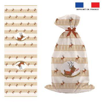 Kit hotte de Noel motif renne scandinave