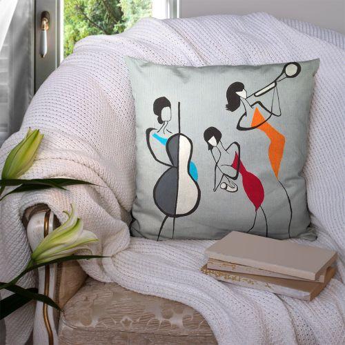 Coupon 45x45 cm motif musiciennes - Création Lilou L