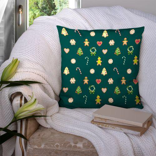 Coupon 45x45 cm motif gourmandise vert - Création Créasan'