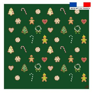 Coupon 45x45 cm motif gourmandise vert prairie - Création Créasan'