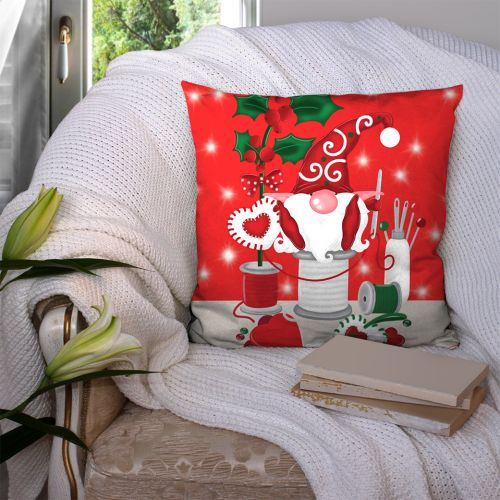 Coupon 45x45 cm motif lutin couturier rouge - Création Créasan'