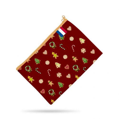 Kit pochette rouge motif gourmandise - Création Créasan'