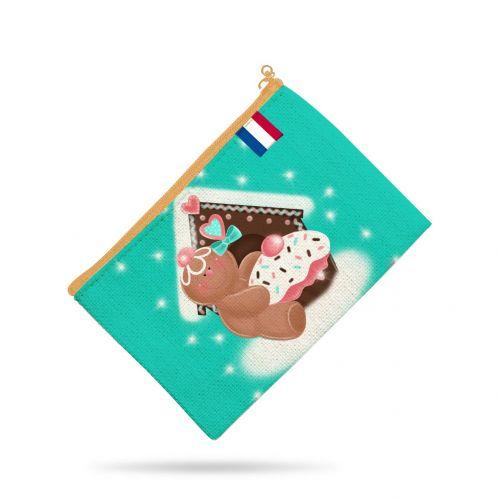 Kit pochette motif biscuit en pain d'épices - Création Créasan'