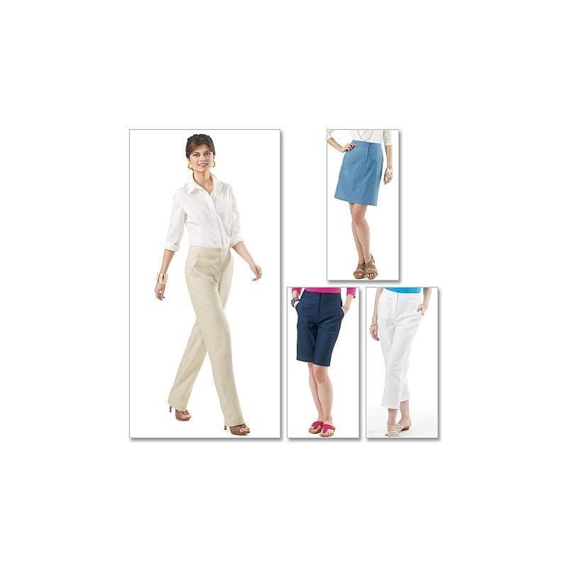 Patron Mc Calls M6361 : Pantalon, short et jupe Taille : 44-50