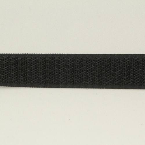 Rouleau 25m Auto-agrippant à coudre crochet 20 mm noir