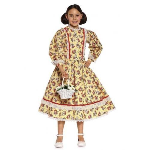 Burda 9529 Robe style Louis Taille : 7-14ans