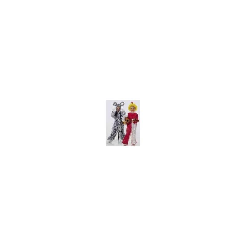 Patron Burda N°2524 carnaval : Arlequin et Chat Taille : 4-15ans