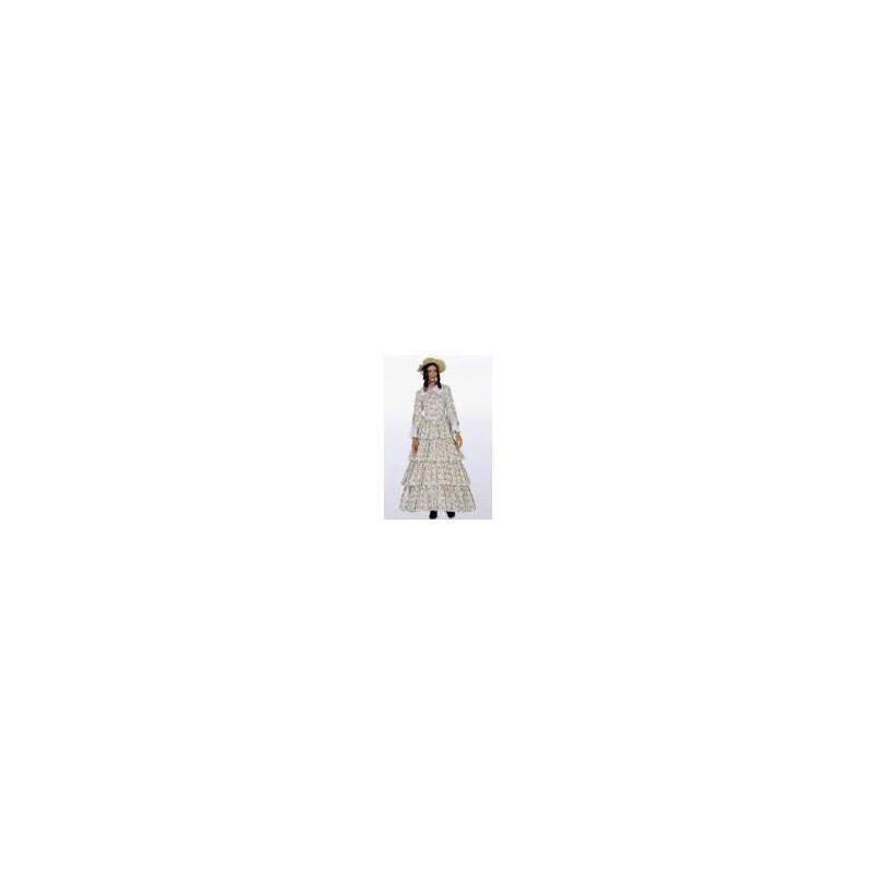 Patron Burda N°2768 carnaval : Robe année 1848 Taille : 36-52ans