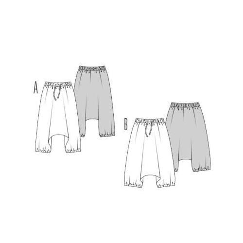 Patron N°7546 Burda style : Pantalon Sarouel