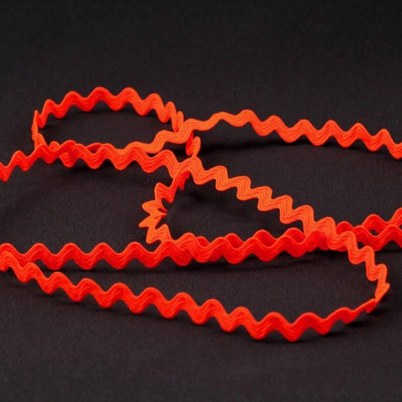 Croquet 5mm orange fluo zig-zag