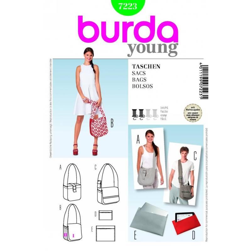 Patron N°7223 Burda style : Sacs