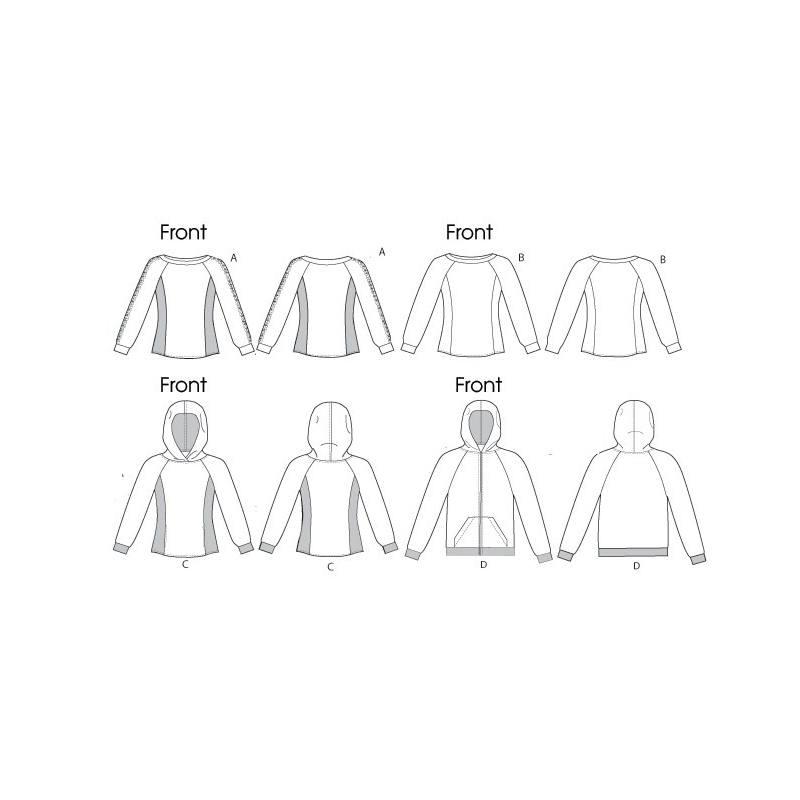 Patron Mc Calls M6614 : Haut et veste Taille : XL-XXXL