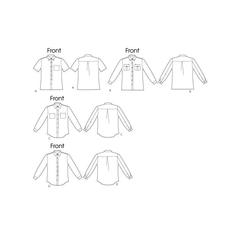 Patron Mc Calls M6613 : Chemises Taille : XL-XXXL